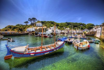 The Fishing Port of Polperro in Cornwall, England